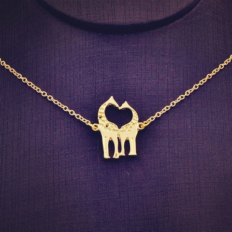 Necklace - Double Giraffe Love Necklace