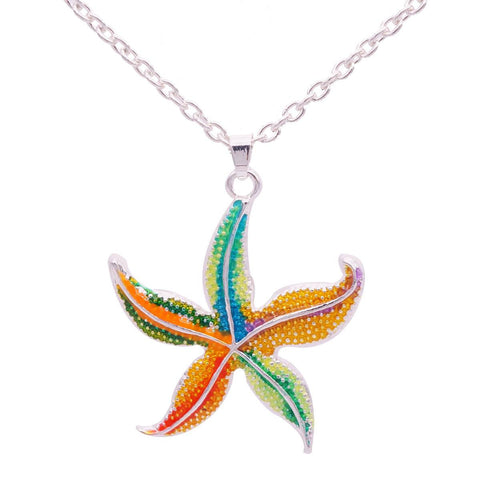 Necklace - Free Enamel Starfish Necklace