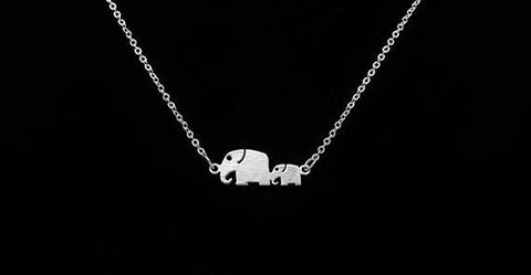 Necklace - Mom Baby Elephant Necklace