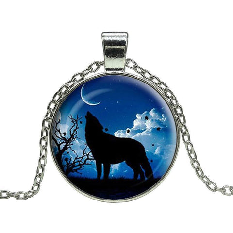 Necklace - Moon Wolf  Necklace