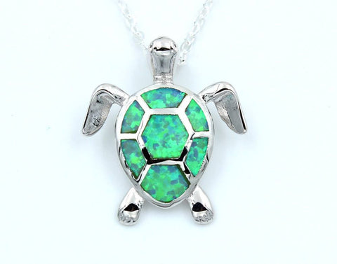 Necklace - Opal Sea Turtle Necklace