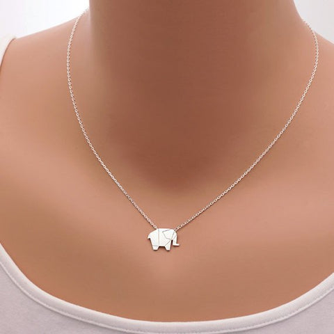 Necklace - Origami Elephant Necklace