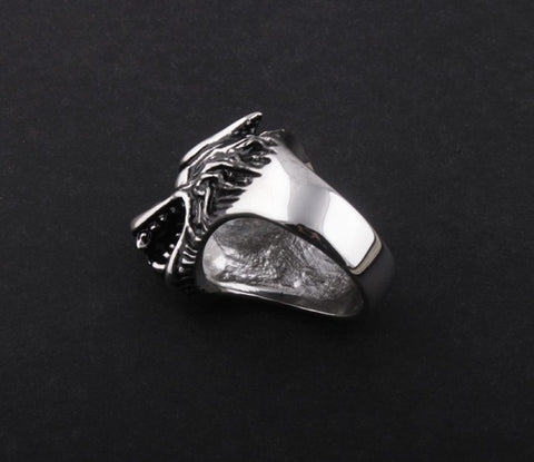 Ring - Wolf Steel Ring
