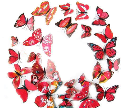 12Pcs 3D Butterfly Wall Stickers