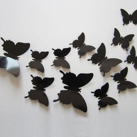 Stickers   12Pcs 3D Butterfly Wall Stickers Part 45