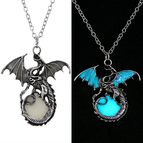Glow in the dark Vintage Dragon Necklace