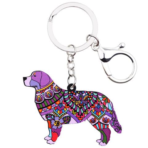 Bernese Mountain Dog Acrylic Keychain