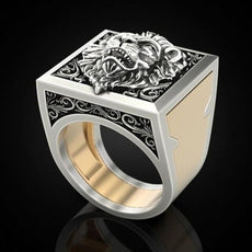 """Lion Box"" Ring"