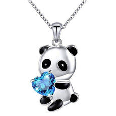 Free Blue Panda Necklace
