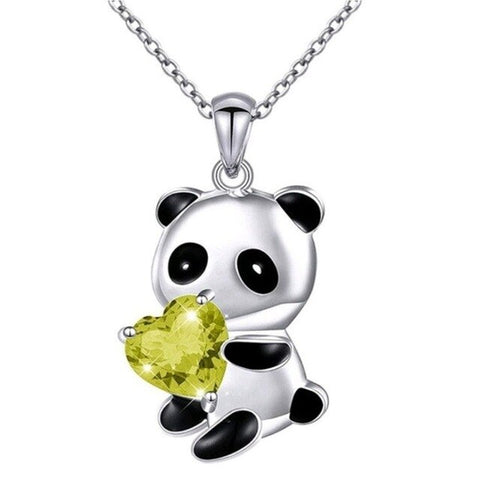 Free Yellow Panda Necklace