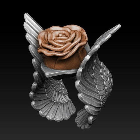 Free Flying Rose Ring
