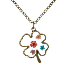 Clover Shaped Flower Necklace