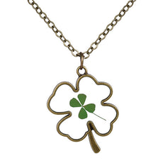 Clover Shaped dried Flower Necklace