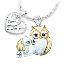 """I Will Always Be With You"" Owl Necklace"