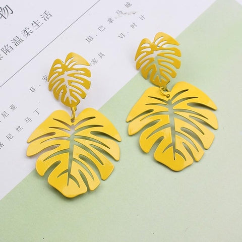 Free Leaf Long Earring