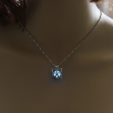 Butterfly Glow in the Dark Necklace