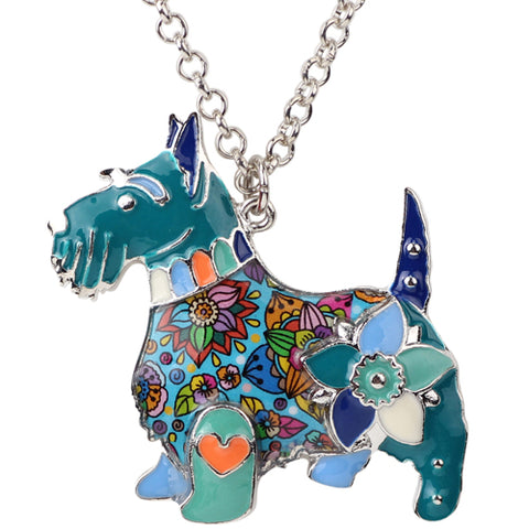 Scottish Terrier Multicolor Necklace