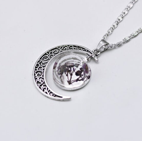 Dried New Moon Necklace