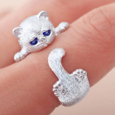 """Sleepy"" Cat Ring"