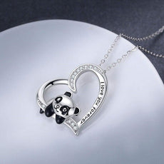 White Loving Panda Necklace