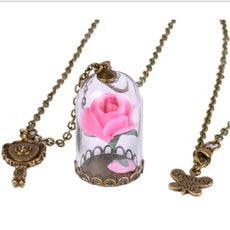 Dried Rose Necklace