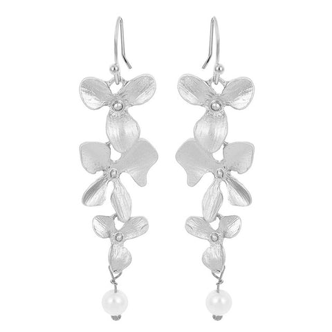Orchid Flower Earrings