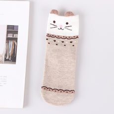 Happy brown Animal Socks