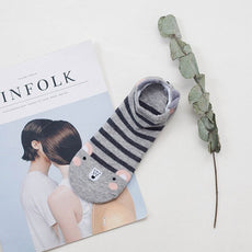 Free Cute Grey Animal Socks