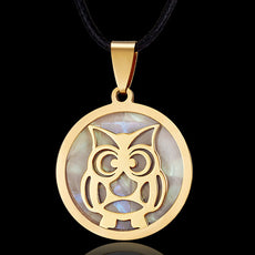 Bubbly Owl Stainless Steel Necklace