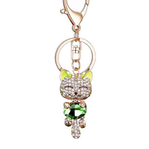 Crystal Cat Keychain