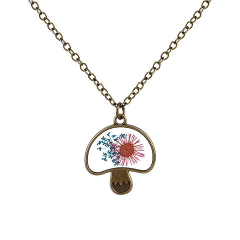 Mushroom Shaped Flower Necklace