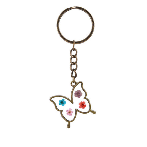 Butterfly Shaped flower Keychain