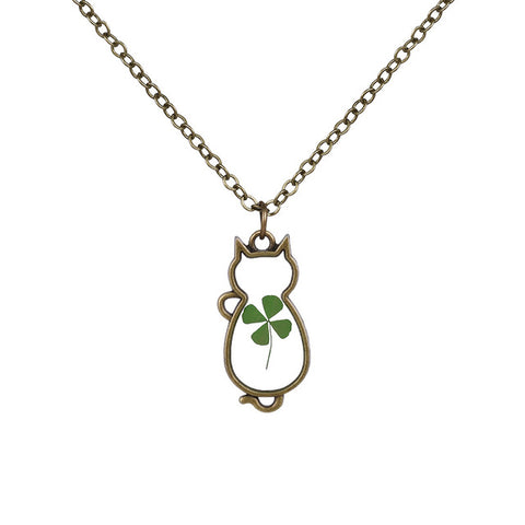 Cat Shaped Flower Necklace
