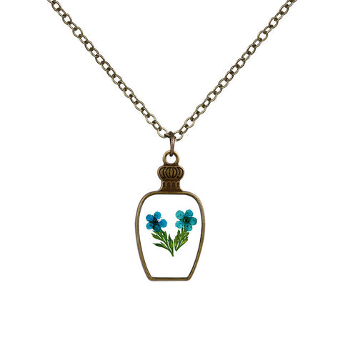 Bottle Shaped Flower Necklace
