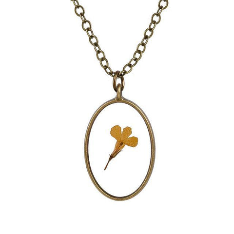 Oval Shaped Flower Necklace