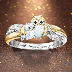 """I will Always Be with You"" Owl Ring"