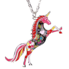 Multicolor Unicorn Necklace
