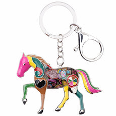 Multicolor Horse Keychain