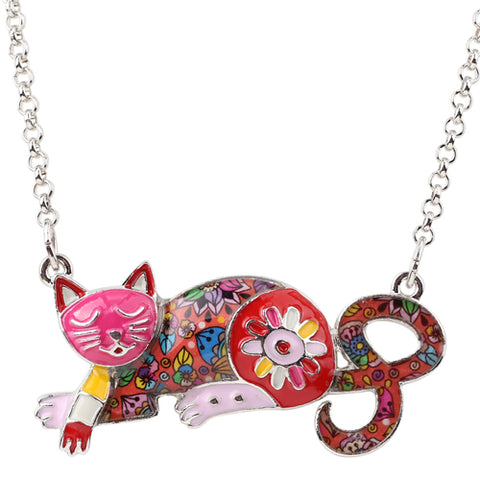Sleeping Cat Necklace