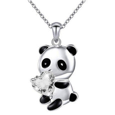 Free White Panda Necklace