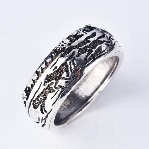 """The Family"" Wolf Ring"