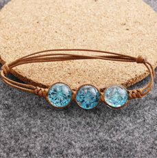 Dried flower Blue Bracelet