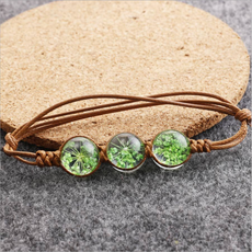 Green Dried flower Bracelet