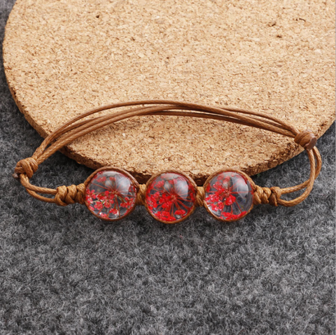 The Red Dried flower Bracelet