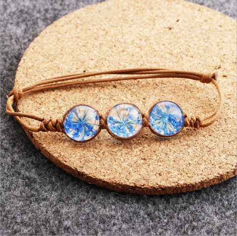 The Blue Dried flower Bracelet