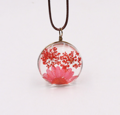 The Red Dried Ball Necklace
