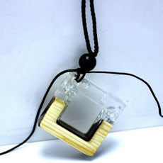 """The White Square"" Necklace"