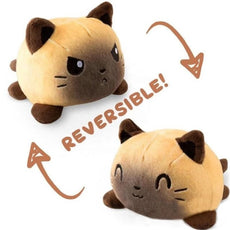 Reversible Cat Plush (siamese double sided cat plush)