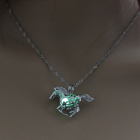 Running Horse Glow in the Dark Necklace