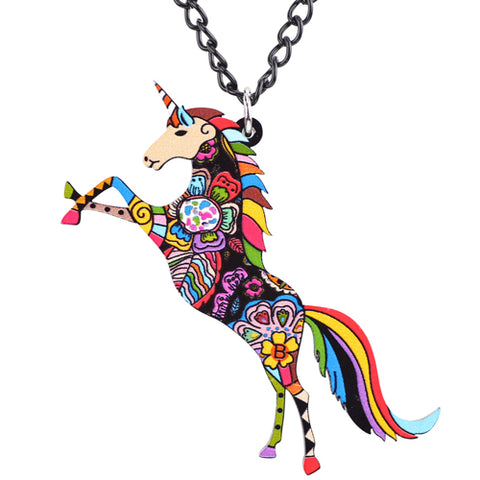 ▷ Colorful Unicorn Necklace | Helping Animals At Risk